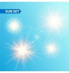 Sun burst collection vector image