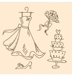 bride sketch vector image vector image