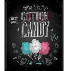 cotton candy chalk vector image