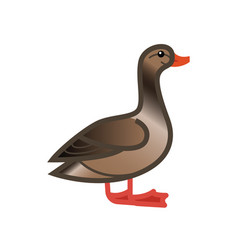 goose drawn side view vector image
