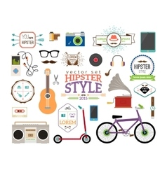 Hipster infographics elements and labels vector image vector image