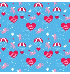 parachute valentine seamless 380 vector image vector image