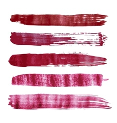 Red watercolor brush strokes vector image