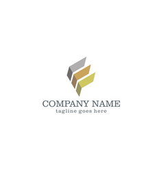 shape abstract business company logo vector image vector image