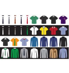 templates shirts and ties vector image