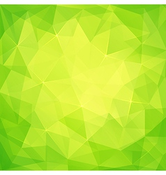 Abstract triangles green background vector image vector image