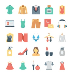 Fashion and clothes icons 5 vector