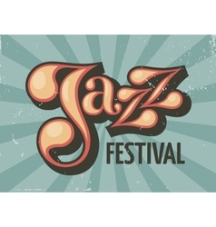 Jazz festival flyer vector image