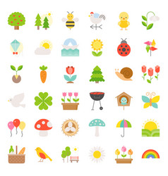 Picnic nature and spring icon set vector