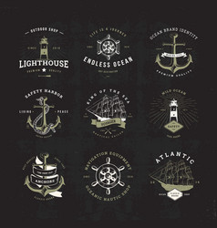 sail logo set invert vector image