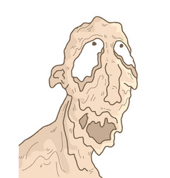 ugly monster vector image