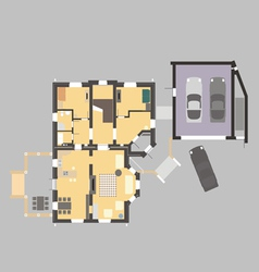 02 house plan v vector