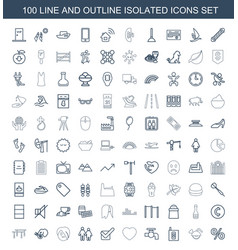 100 isolated icons vector