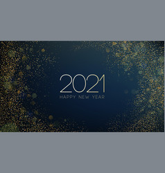 2021 new year abstract shiny color gold wave vector image
