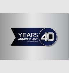 40 years anniversary logo style with circle vector