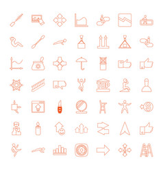 49 up icons vector image