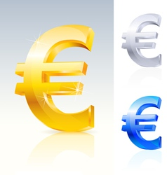 abstract euro sign vector image