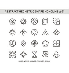 abstract geometric shape monoline 01 vector image