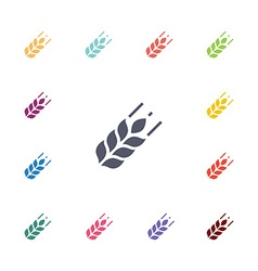 agriculture flat icons set vector image