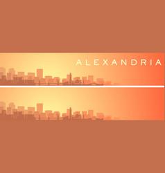 Alexandria beautiful skyline scenery banner vector