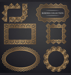 Art-deco ornamental frame vector