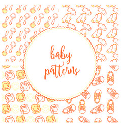 baby shoes and socks in pattern of vector image