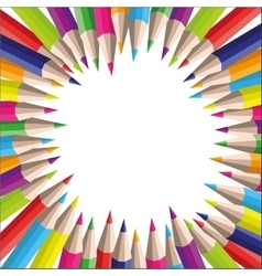 Background of colored pencils for your vector