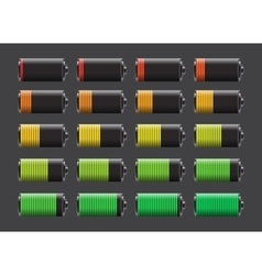 batteries with different charge levels vector image
