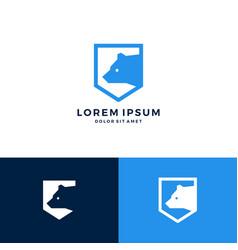 bear shield logo icon download vector image