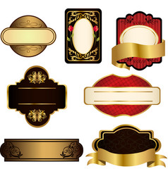 black and gold frames vector image