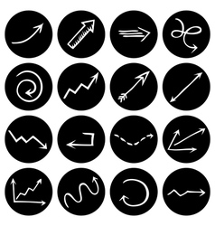 Black and white round pictograms vector image