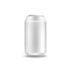 Blank aluminum can mockup for soda or beer in vector