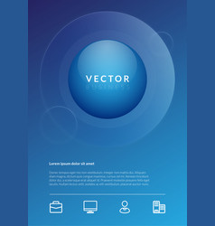 Blue background business image vector