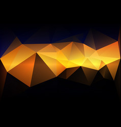 blue yellow orange black low poly background vector image
