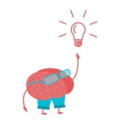 Brain Person vector image