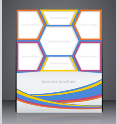Brochure or flyer design with tabs for photos vector