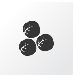Brussels sprouts icon symbol premium quality vector