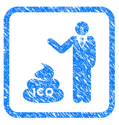 Businessman show ico shit framed grunge icon vector