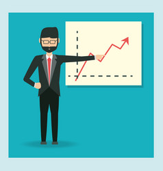 cartoon businessman design vector image
