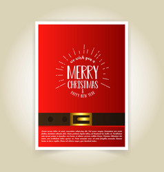 christmas card design with elegant design and red vector image