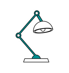 Color silhouette cartoon modern style desk lamp vector