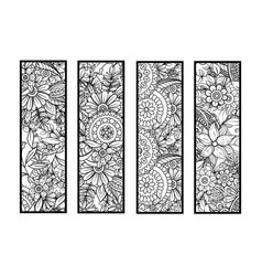 Coloring bookmarks set vector