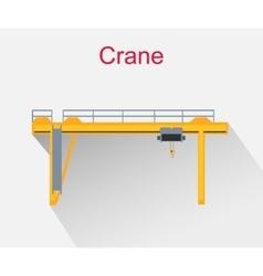 crane equipment icon design style vector image