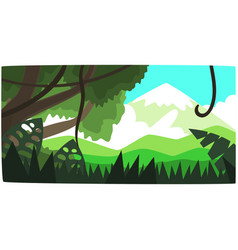 Deep tropical jungle background tropical forest vector