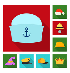 Design of headgear and cap icon collection vector