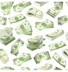 dollar banknotes bundles and money currency vector image