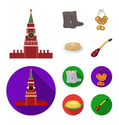 Felt boots drying gingerbread russia country vector
