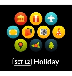 Flat icons set 12 - holiday collection vector