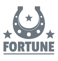 Fortune logo vintage style vector