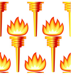 Gold torch pattern vector
